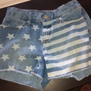 Old Navy American Flag Jean shorts